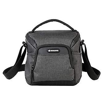 Grey shoulder bag.