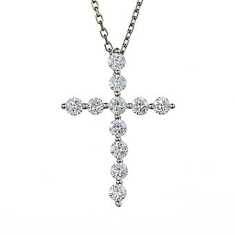 Forever One 3.0mm Redondo Moissanite Cross Collar, 1.10cttw DEW
