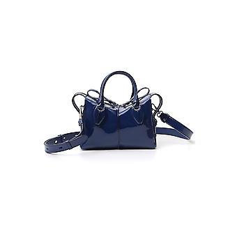 Tod's Xbwanyh1000mnju611 Women's Blue Patent Leather Handbag