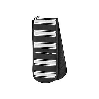 Ladelle Butcher Stripe Series II Black Double Oven Glove