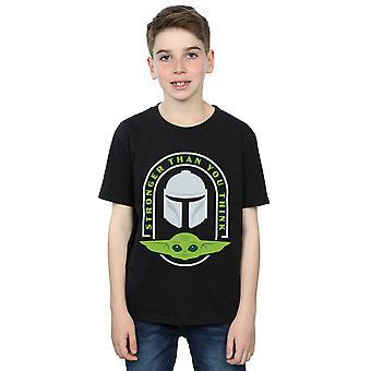 Star Wars Boys The Mandalorian Mais Forte do que Você Pensa T-Shirt