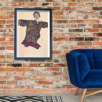 Egon Schiele - Selbstmit ausgebreiteten Armen - 1911 Poster Print Giclée