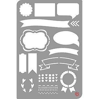 Pronty Bullet Journal Stencil Banners 470.851.003 12x18cm