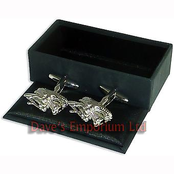 Dragons Head Cufflinks - Gift Boxed - Chinese New Year Festival Cuff Links