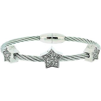 The Olivia Collection Star Design Wire Style Bracelet with Magnetic Closure