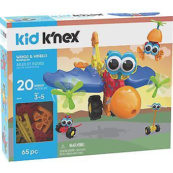 Kid K'Nex 85619 Wings & Wheels Building Set-65 Pieces