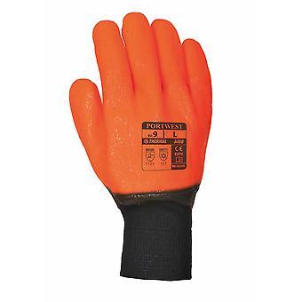 Portwest - Weatherproof Hi - Vis Glove One Pair Pack