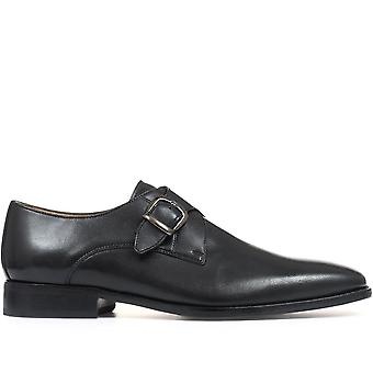 Jones Bootmaker Mens Rupert Leather Monk Sapato