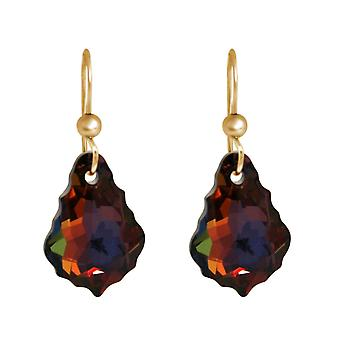 Gemshine ladies earrings with SWAROVSKI ELEMENTS. 925 Silver, gold-plated or rose