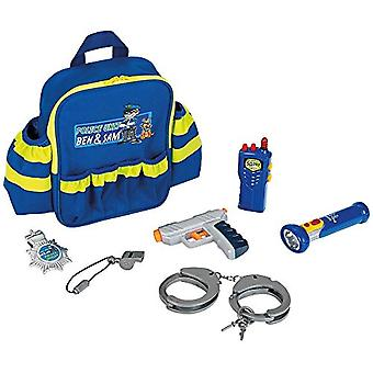 Theo Klein Police Officer Rucksack with Handcuffs and Functional Torch For Ages