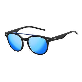 بولارويد PLD1023/S ماتي الأسود / بولاريس رمادي أزرق مرآة النظارات الشمسية