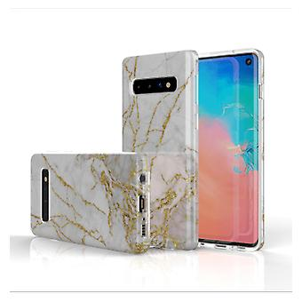 FONU Marmer Backcase Hoesje Samsung Galaxy S10e - Wit