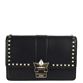 Ash FLOSSIE Crossbody Bag Black Leather & Studs