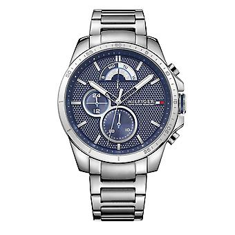 Tommy Hilfiger Watches 1791348 Decker Blue And Silver Stainless Steel Men's Watch
