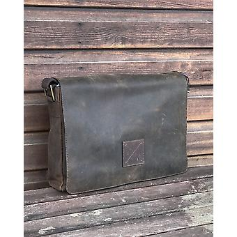 Ashwood nahka Messenger Laptop Bag - Lehmän nahka - sopii 17 & Laptop Macbook # Pedro