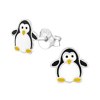 Penguin - 925 Sterling Silver Colourful Ear Studs - W17139x