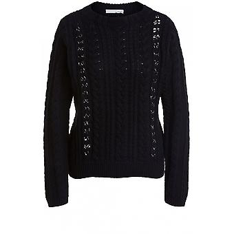 Oui Black Cable Knit Jumper