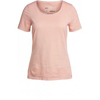 Oui Light Apricot Jersey T-Shirt
