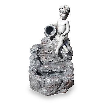 Garden Fountain Figure Fountain Water Feature FoBimbo Led 74 cm 10905