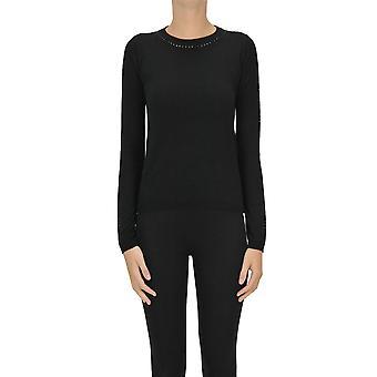 Max Mara Ezgl137058 Women's Black Silk Sweater