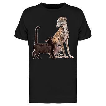 سليم غالغو والأسود الملونة القط تي الرجال & apos;s -الصورة من قبل Shutterstock
