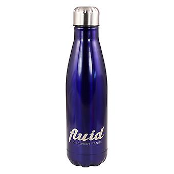 Fluid 500ml Cool or Hot Stainless Steel Water Bottle Sapphire Blue