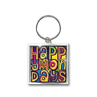 Happy Mondays Keyring Keychain Dayglo band Logo new Official