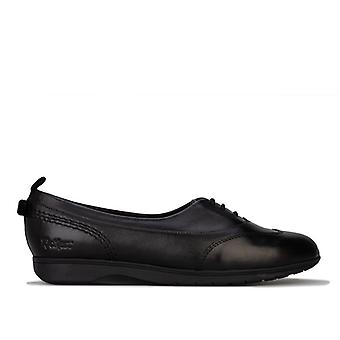 Women's Kickers Perobelle Leather Plimsoll Shoes in Black