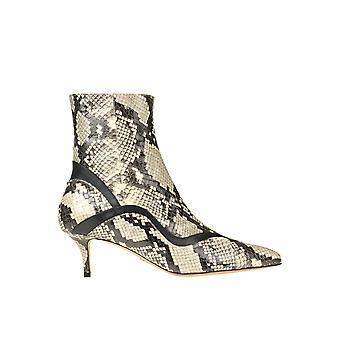 Paula Cademartori Ezgl058007 Women's Beige Leather Ankle Boots
