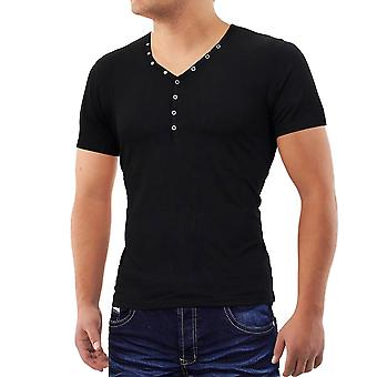 Men Barbados beach boy T-Shirt V-Neck Polo Club Wear shirt Slim