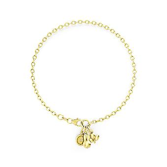 Miffy 18ct Gold Plated Vermeil Triple Charm Bracelet