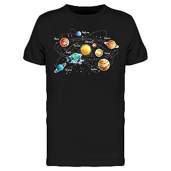 Das Sonnensystem Skizze Tee Men's -Bild von Shutterstock