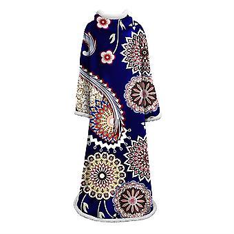 YANGFAN Fashion Soft Geometry Plush Blanket With Sleeve