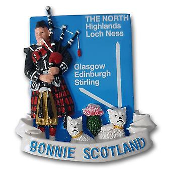 Elgate Bonnie Scotland Westies & Piper Resin Magnet