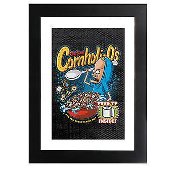 Cornholios Cereal Beavis And Butt Head Incorniciato Stampa