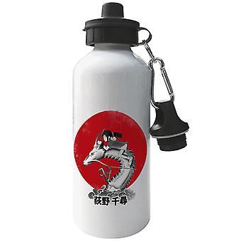 Spirited Away Rojo Sol Espíritu Aluminio Deportes Botella de Agua