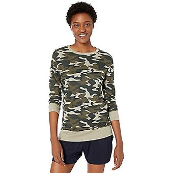 Brand - Mae Women's Cotton Modal Long Sleeve Lounge T-Shirt, Printed c...