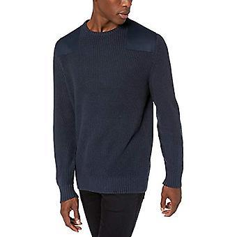 Goodthreads Men's Weiche Baumwolle Militärische Pullover, Marine X-Small