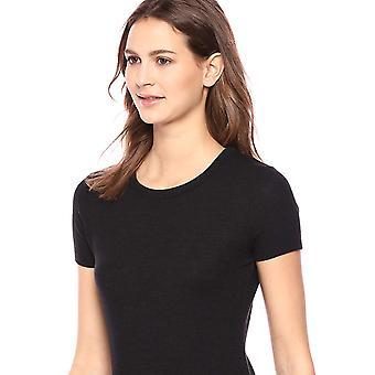 Marke - Tägliche Ritual Frauen 's gemütlich stricken offene Rundhalskleid, schwarz, X-Small