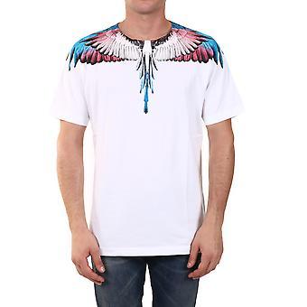 Marcelo Burlon Cmaa018f20jer0010128 Heren's White Cotton T-shirt