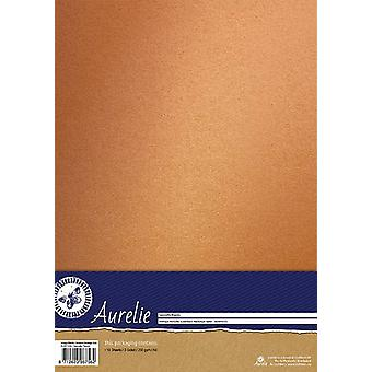 Aurelie Vintage Metallinen Cardstock Nostalginen Gold