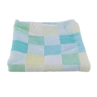 Square Cotton Gauze Plaid Towel - Daily Use Hand Face Towels For Kids