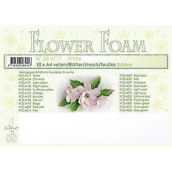 Leane Creatief Hojas de Espuma Flor A4 Blanco