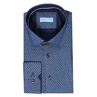 Patterned long sleeve blue shirt | wessi