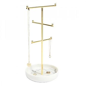 Stackers Large Marble 6 Hook Jewellery Stand