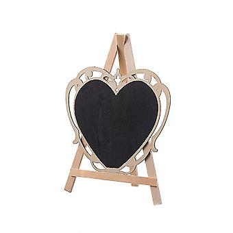Mini Stand Blackboard with Easel Large Openwork Lace