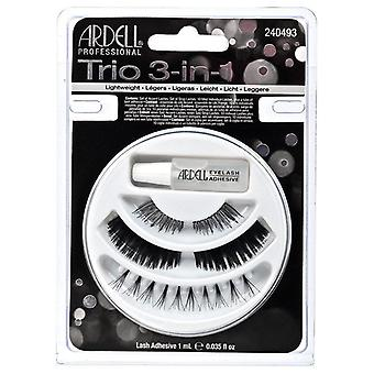 Ardell Trio 3-in-1 Collection Lightweight Black Lashes - Adhesive Included
