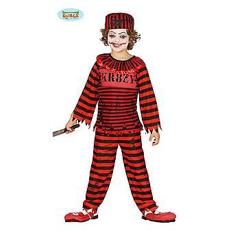 Guirca skräck clown kostym av fånge Halloween barn kostym