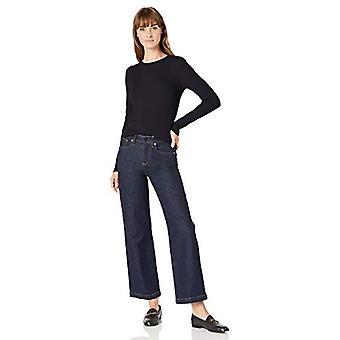 Lark & Ro Women & apos;s Slim Fit مضلع نفخة الأكمام سترة, البحرية الداكنة, متوسطة