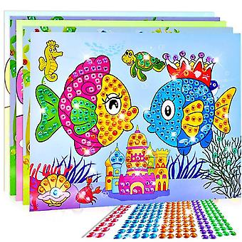Crystal-sticker Craft Diy For-kids, Educational Mosaic-sticker-crafts